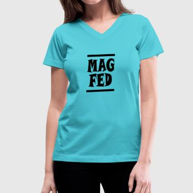 Teamsport Magfed Paintball Teamsport Gift Idea - Women's V-Neck T-Shirt