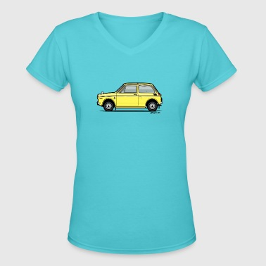 Honda N360 Yellow Kei Car - Women's V-Neck T-Shirt