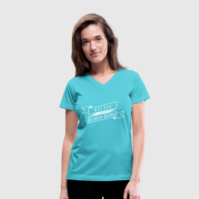 Moscow - Women's V-Neck T-Shirt