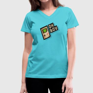 Oh Boy - Women's V-Neck T-Shirt