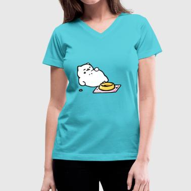 Tubbs Neko Atsume T Shirt - Women's V-Neck T-Shirt