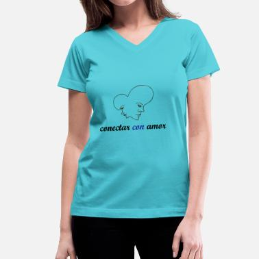 Connected Hearts HEART CONNECTION - Women's V-Neck T-Shirt