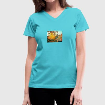 Autumn spring flower - Women's V-Neck T-Shirt