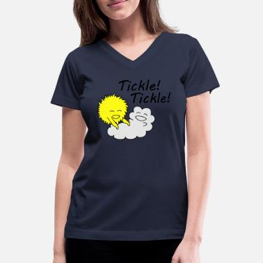 Tickles Tickle tickle sun. - Women's V-Neck T-Shirt