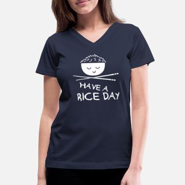 Rice Day - Women's V-Neck T-Shirt