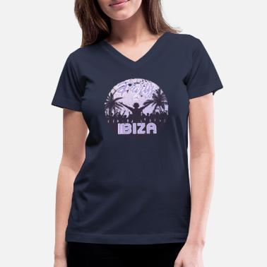 Europe Party in Ibiza - Women's V-Neck T-Shirt