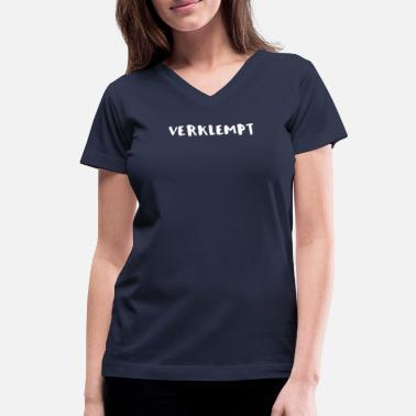 Yiddish Jewish Verklempt Yiddish - Women's V-Neck T-Shirt