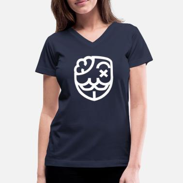 Anarchy Anonymous Mask Illustration - Women's V-Neck T-Shirt