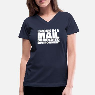 Post Postal Worker Gifts | Mailmen, Mail Ladies & - Women's V-Neck T-Shirt