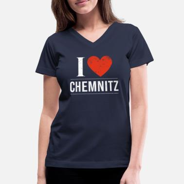 Chemnitz I Love Chemnitz - Women's V-Neck T-Shirt