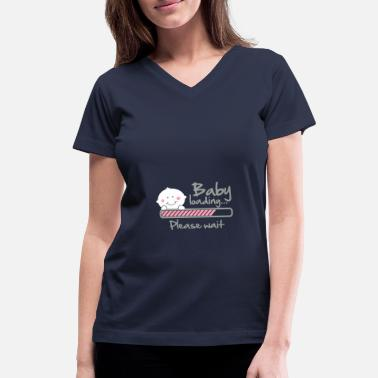 Pregnancy Baby loading - please wait - Women's V-Neck T-Shirt