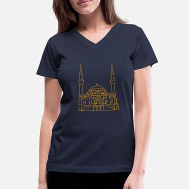 Neukölln Sehitlik Mosque Berlin - Women's V-Neck T-Shirt