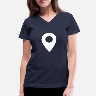 Location Image: Location - Women's V-Neck T-Shirt