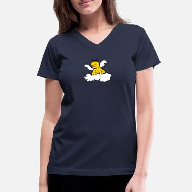 Ángel happy angel (3c) - Women's V-Neck T-Shirt