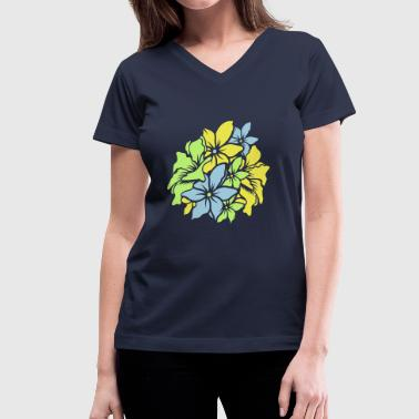 Bouquet of flowers - Women's V-Neck T-Shirt