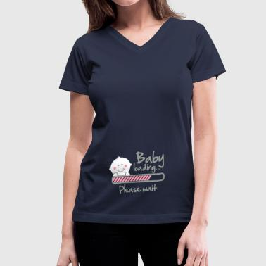 Baby loading - please wait - Women's V-Neck T-Shirt