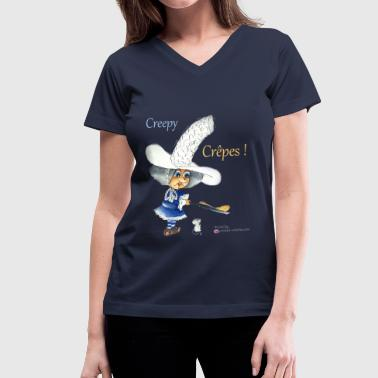 Crepes - Wickes Witches - Women's V-Neck T-Shirt