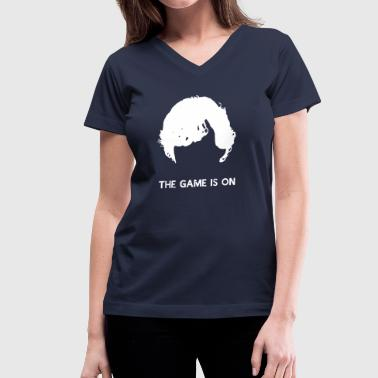 Benedict Cumberbatch The Game Is On - Sherlock - Women's V-Neck T-Shirt