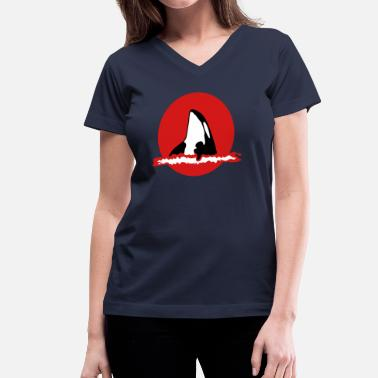 Killer Whale Orca Killer Whale - Women's V-Neck T-Shirt
