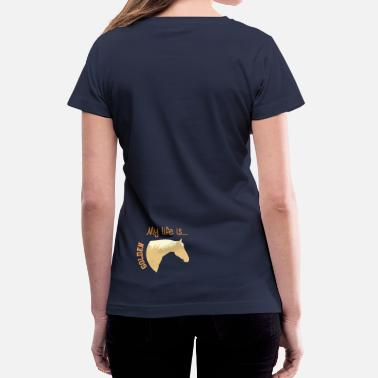 Ride Horse Sayings Horse - Palomino  - Women's V-Neck T-Shirt