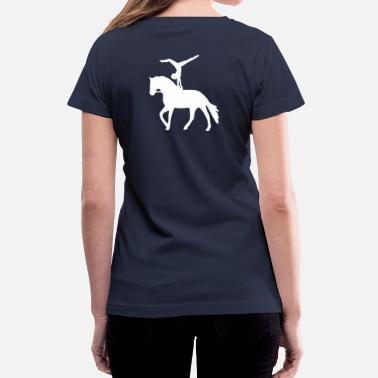 Vaulting Handstand on a horse - Women's V-Neck T-Shirt