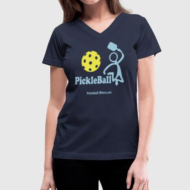 Pickleball Slam - Women's V-Neck T-Shirt