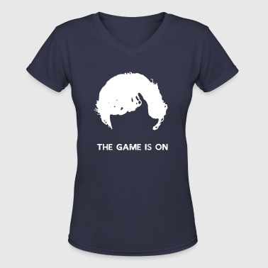 The Game Is On - Sherlock - Women's V-Neck T-Shirt