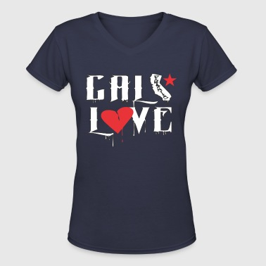 CALI Love - Women's V-Neck T-Shirt