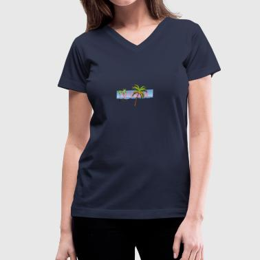 Summer By CC ARTS Design - Women's V-Neck T-Shirt