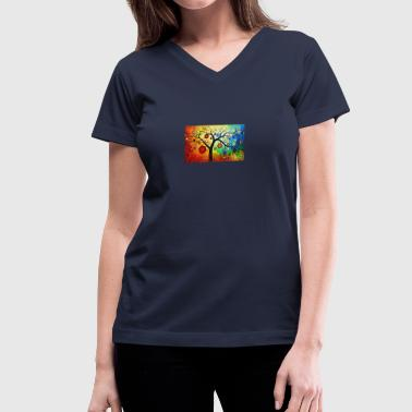Abstract 20painting 2020 20Wallpapers 20HD 202560x - Women's V-Neck T-Shirt