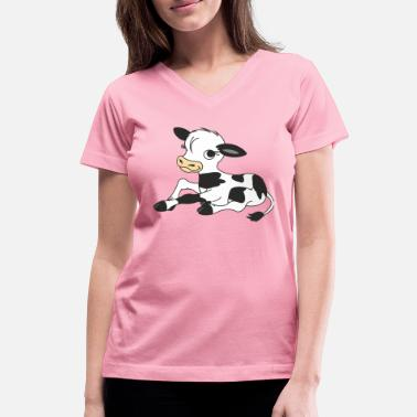 Calf Calf, farm - Women's V-Neck T-Shirt