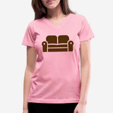 Couch Couch - Women's V-Neck T-Shirt