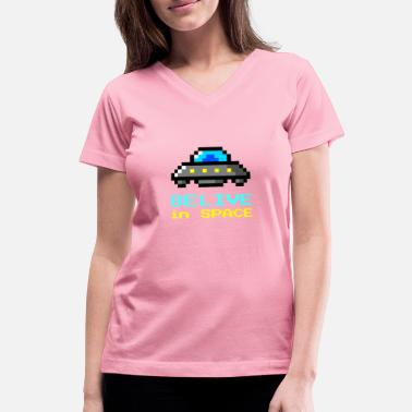 Lyfestyle Belive in Space - Women's V-Neck T-Shirt