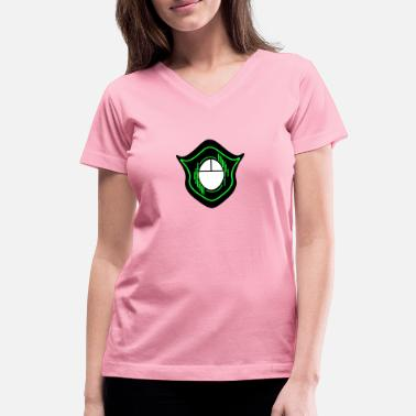 Masterrace Gaming Mouse emblem logo coat of arms gift idea - Women's V-Neck T-Shirt