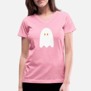 Ghost Cute ghost - Women's V-Neck T-Shirt