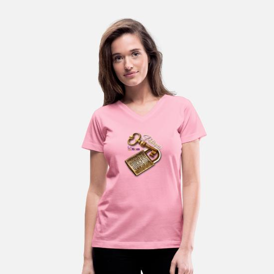 Success T-Shirts - Patience is a Key to Success - Women's V-Neck T-Shirt pink
