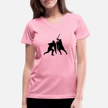 Sword Fight Sword fight - Women's V-Neck T-Shirt