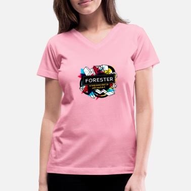 Forester FORESTER - Women's V-Neck T-Shirt