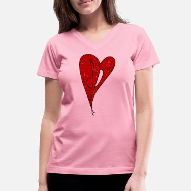 Smashing SP Heart - Smashing Pumpkins - Retro Vintage Style - Women's V-Neck T-Shirt