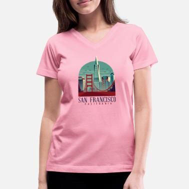 Francisco San Francisco California - Women's V-Neck T-Shirt