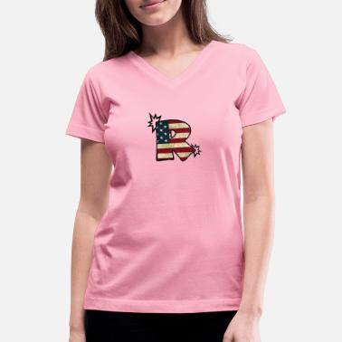 R Logo SuppzReviews R Logo - Women's V-Neck T-Shirt