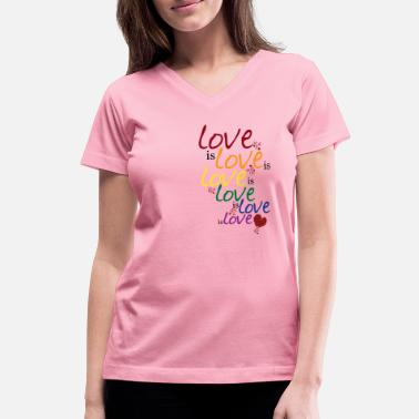 Queer Love is love (Gay Marriage) - Women's V-Neck T-Shirt