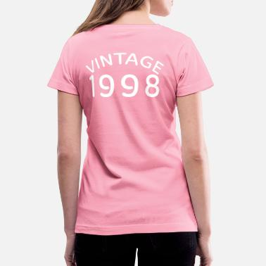 Vintage 1998 Vintage 1998 (white design) 21st birthday - Women's V-Neck T-Shirt