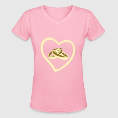 Ring, Wedding - Women's V-Neck T-Shirt