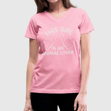 animal lover - Women's V-Neck T-Shirt