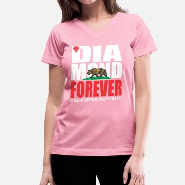 Diamonds Are Forever Diamond Forever Bear  - Women's V-Neck T-Shirt