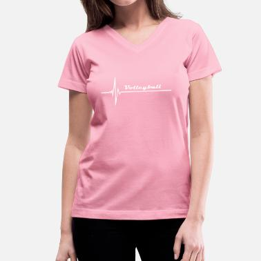 Womens Volleyball volleyball - Women's V-Neck T-Shirt