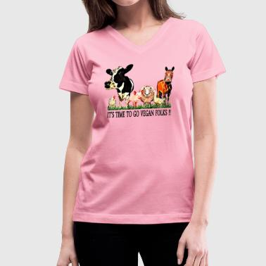 Loving Animals 5 - Women's V-Neck T-Shirt