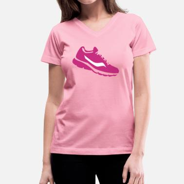 Shoe Sneaker sneaker shoe - Women's V-Neck T-Shirt