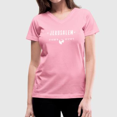 Palestinian Jerusalem - Women's V-Neck T-Shirt